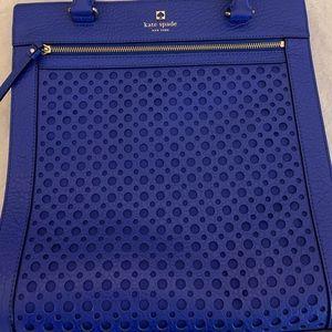 kate spade blue geometric tote
